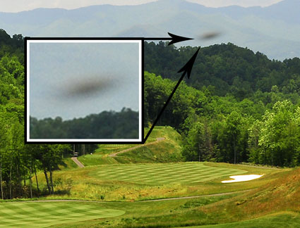 Sky Ship caught by D.C. Buchanan during golf course grand opening at Balsam Mountain Preserve