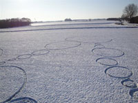 "Snow ""crop circle"" in Holland"