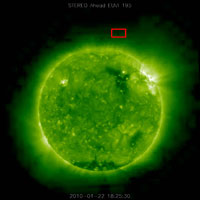 triangular object near the Sun