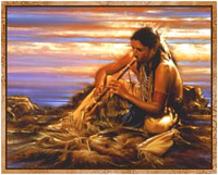 photo of Native American playing a flute