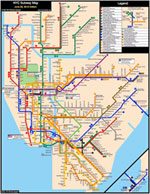 pictoral representation of NY subway system