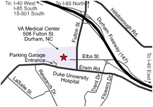 Map of Durham Hospitals