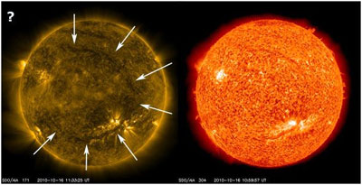 What about the giant circle on the Sun?