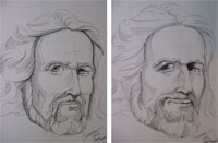 drawing - face of Jesus