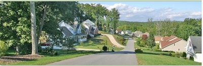 One view of Arden, a predominantly residential area south of Asheville, NC