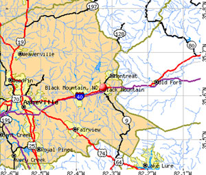 Map of Black Mountain, NC