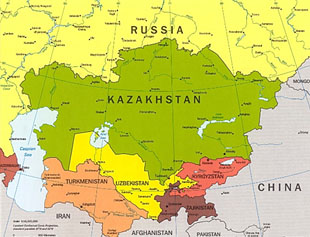 Map of Kazakstan